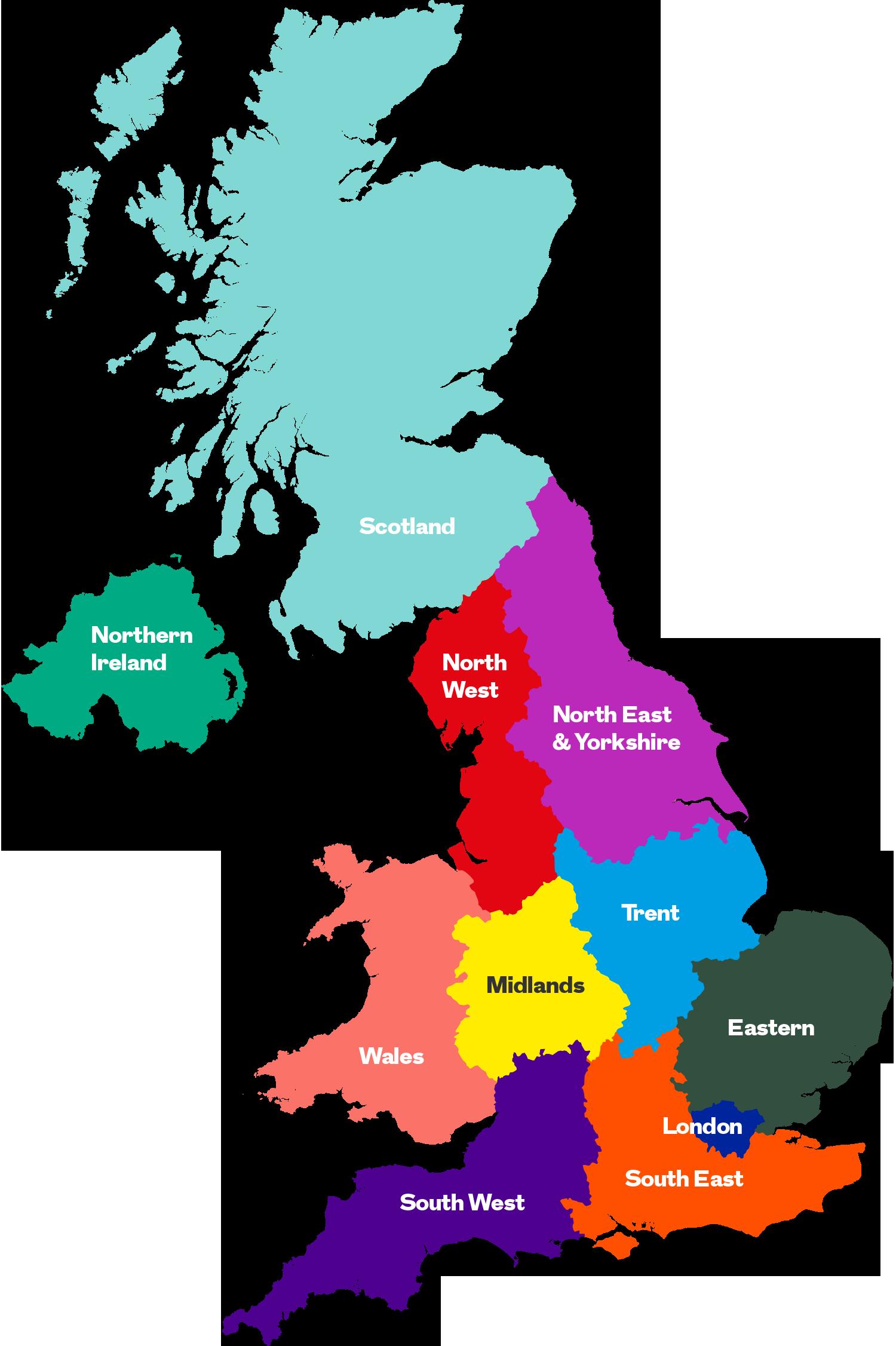 NAEP Regions Map