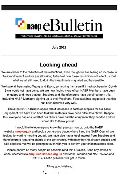 NAEP eBulletin - July 2021